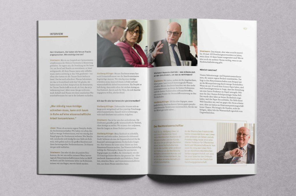 Martin Stratmann, Barbarba Stollberg-Rilinger und Wolfgang Löwer in der Diskussion