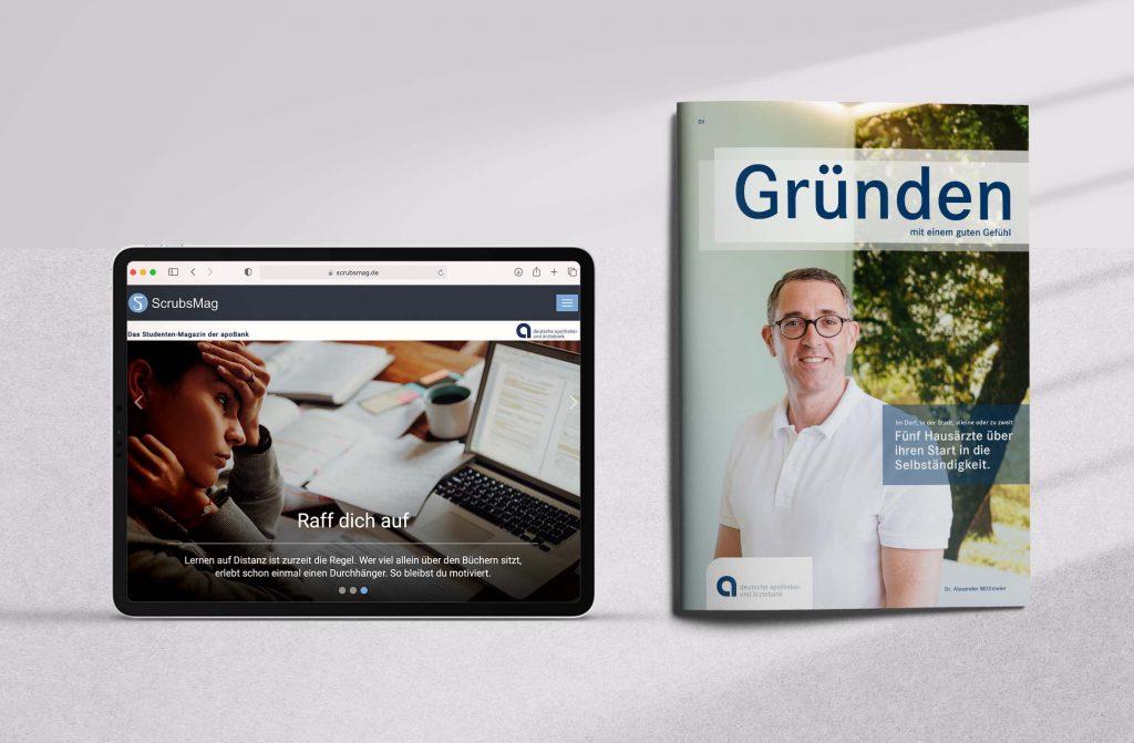 Studierenden-Portal Scrubsmag und Existenzgründermagazin