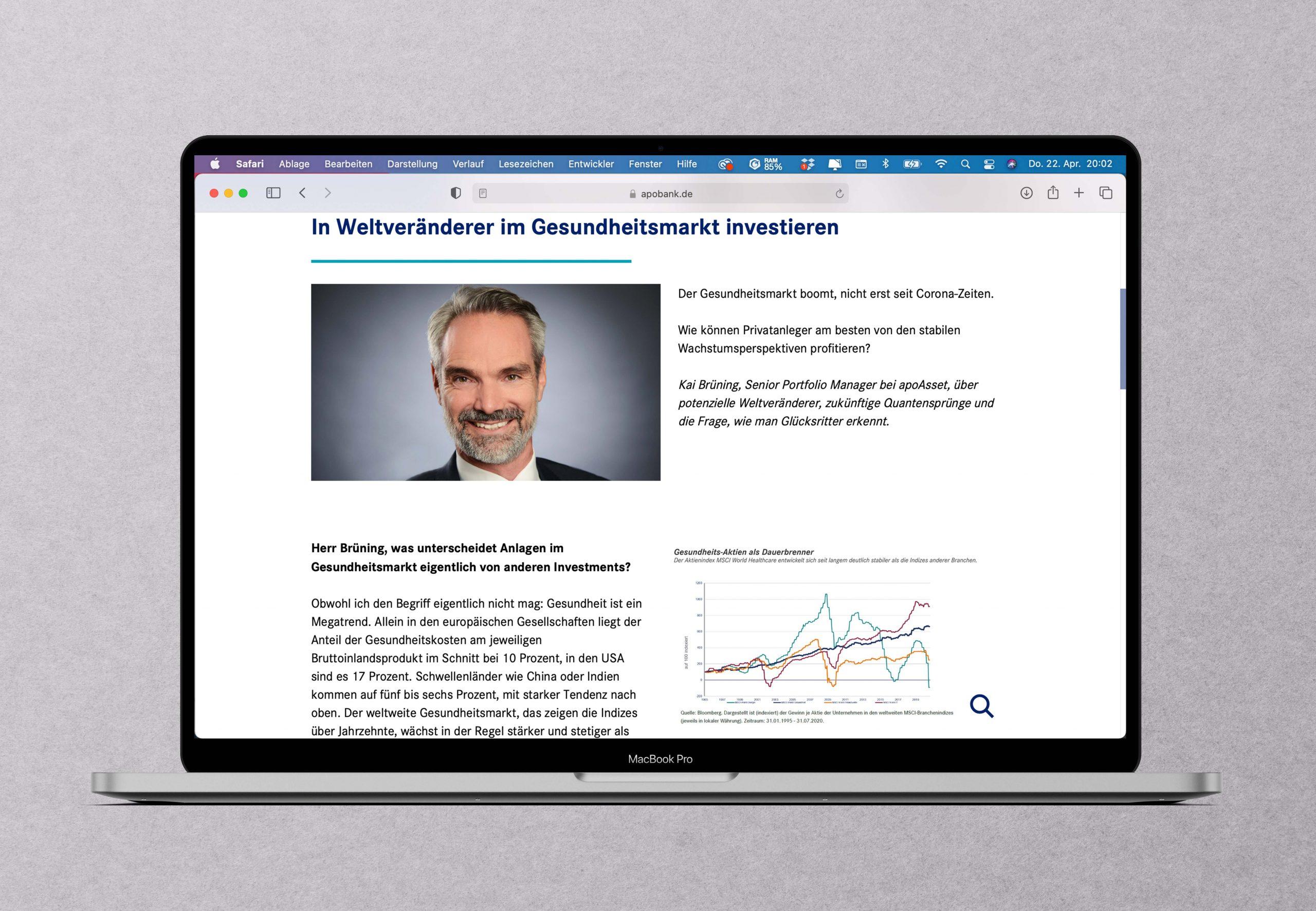 Was ist zu beachten bei Investments im Gesundheitsmarkt? Ein Portfoliomanager gibt Einblicke